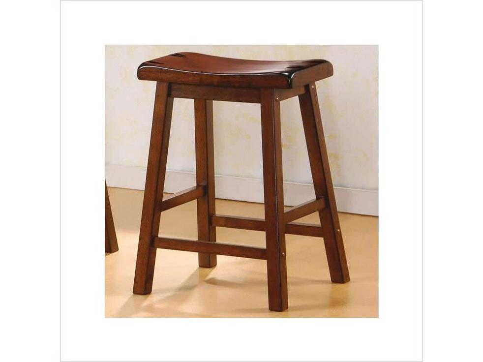 2pcs 24 Quot Walnut Saddle Bar Stool Shop For Affordable