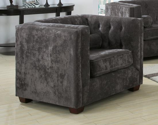 Chenille Chair In Charcoal U2014 Optional
