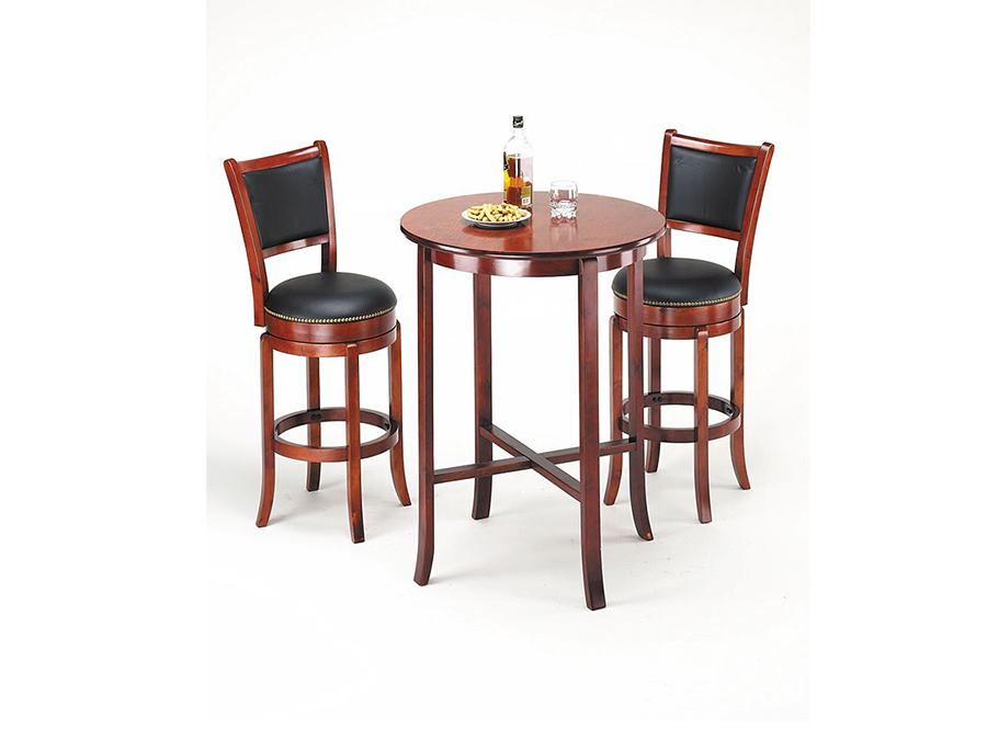 Chelsea 3pcs Oak Bar Table Set