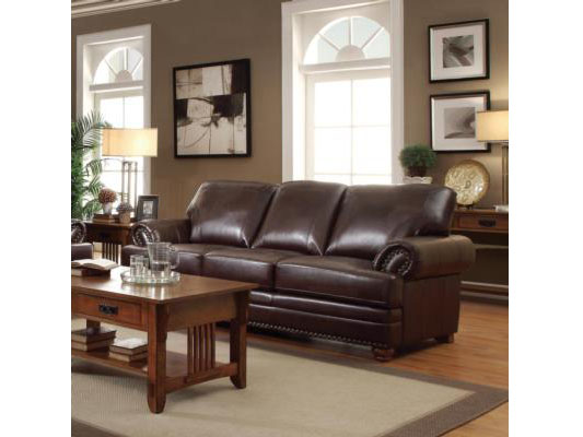 Bonded Leather Sofa In Brown - Shop for Affordable Home Furniture ...