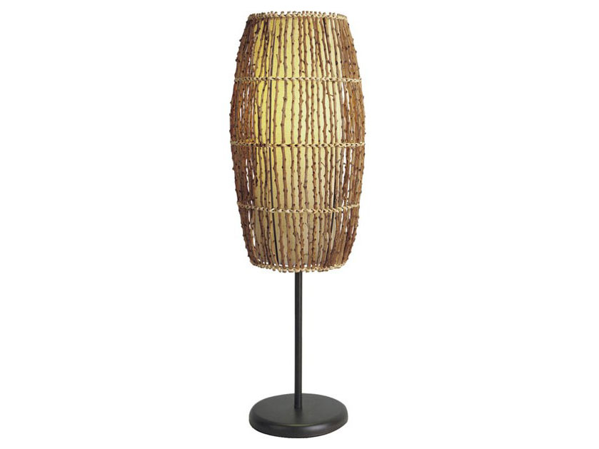 Black bamboo table lamp with yellow cylindrical shade muuduu black bamboo table lamp with yellow cylindrical shade aloadofball Images