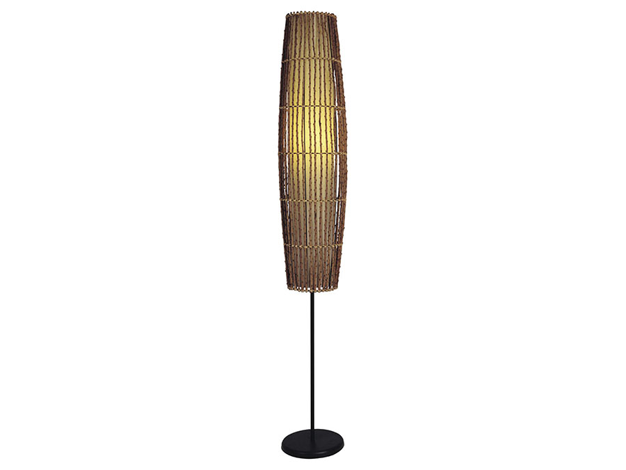 Black bamboo table lamp with yellow cylindrical shade shop for black bamboo table lamp with yellow cylindrical shade aloadofball Image collections