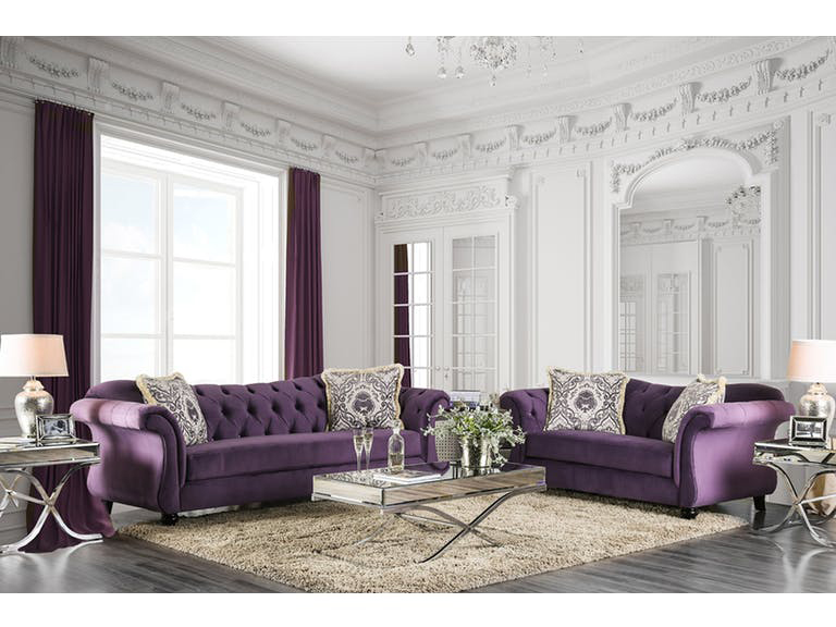 antoinette purple sofa set shop for affordable home furniture rh muuduufurniture com purple color sofa set purple colour sofa sets