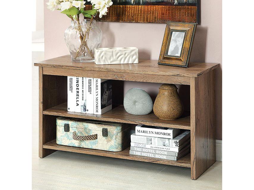 Cortz Contemporary Rustic Oak Side Table