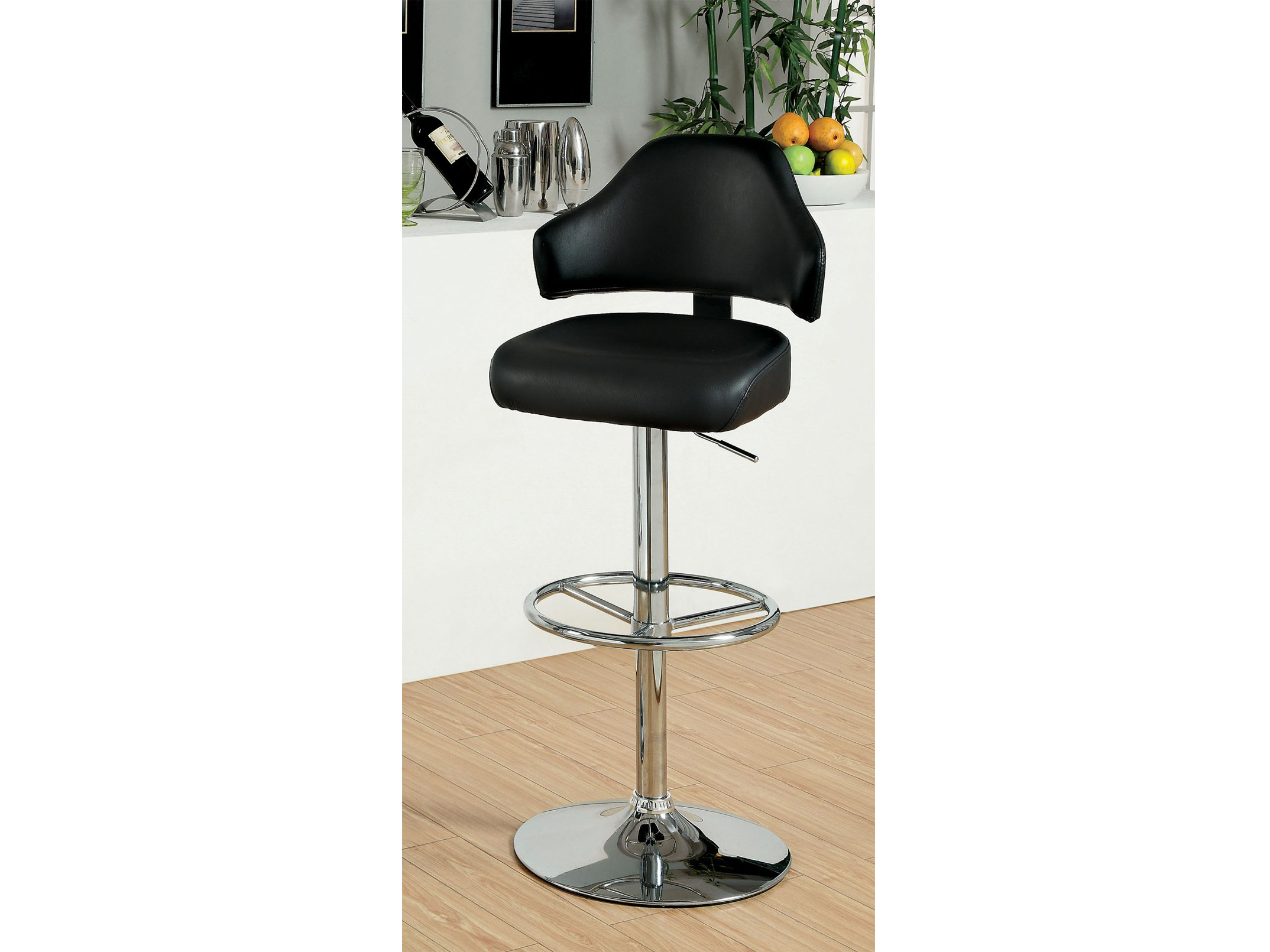 Korpi Black Swivel Bar Stool Shop For Affordable Home
