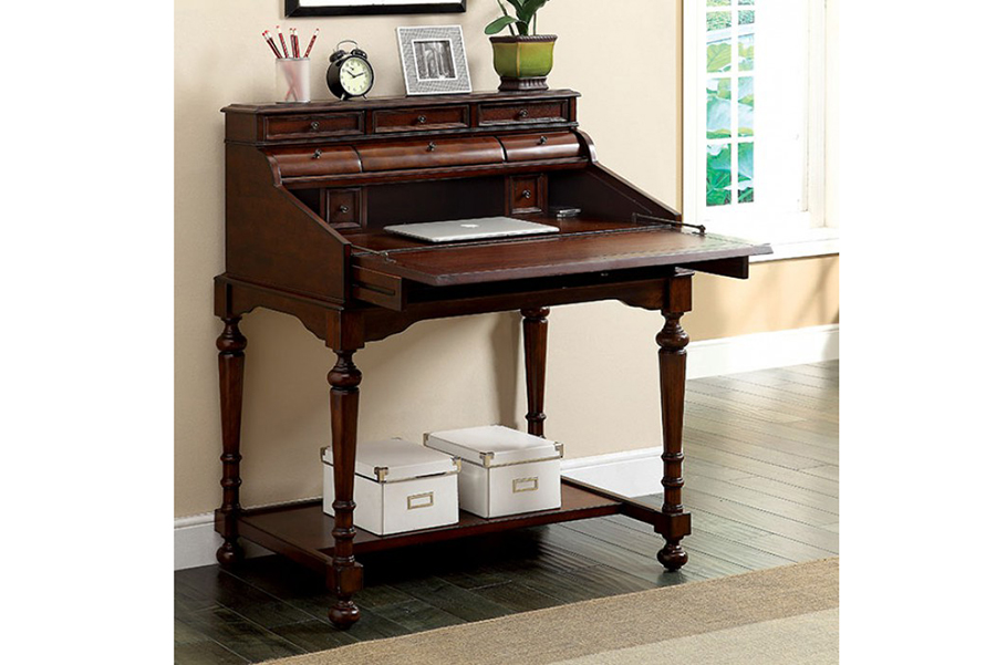Canthus Cherry Secretary Desk With Fold Out Writing Tray