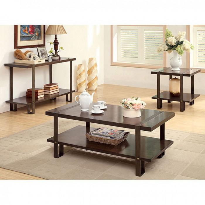 Arbor Rustic Metal Legs Sofa Table