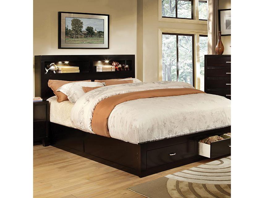 Gerico Ii Espresso Cal King Storage Platform Bed