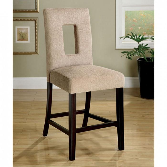 Grandam II 2Pcs Contemporary Espresso Counter Height Chairs
