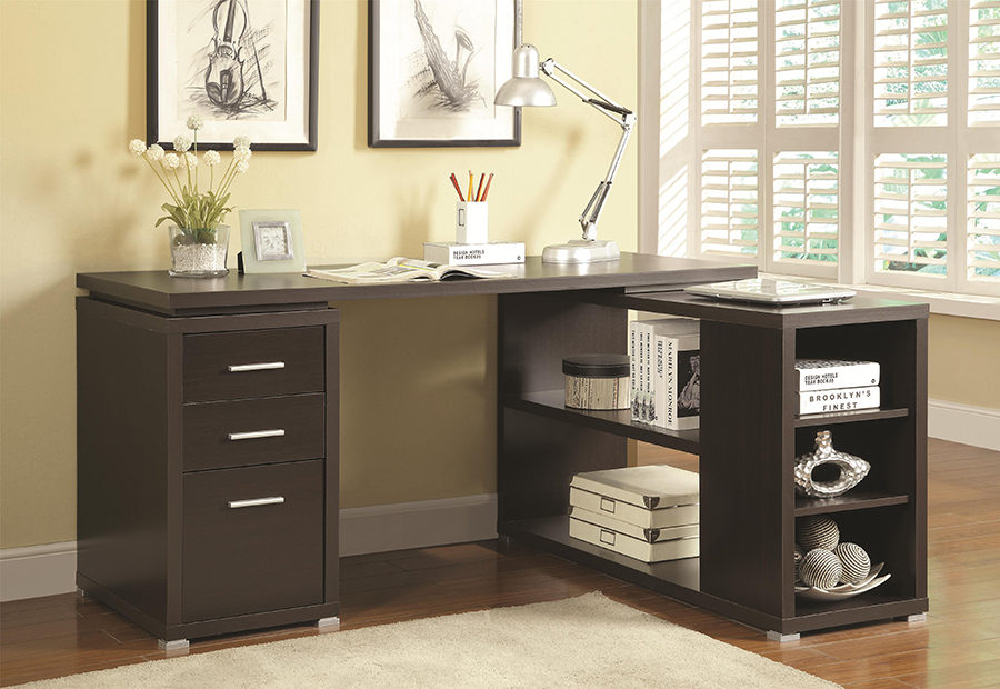 Cappuccino L Shape Writing Desk Shop For Affordable Home