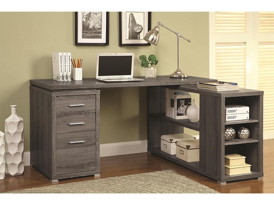 Grey L Shape Writing Desk