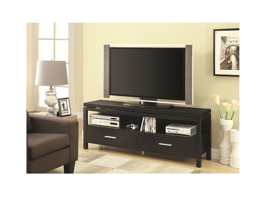 Black Wall Units Media Tv Console With Drawers