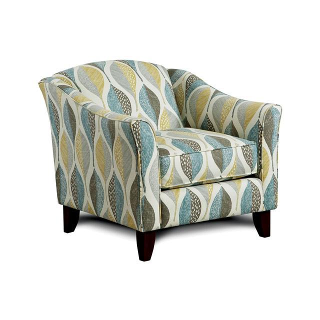 Bon Brubeck Leaf Pattern Fabric Chair