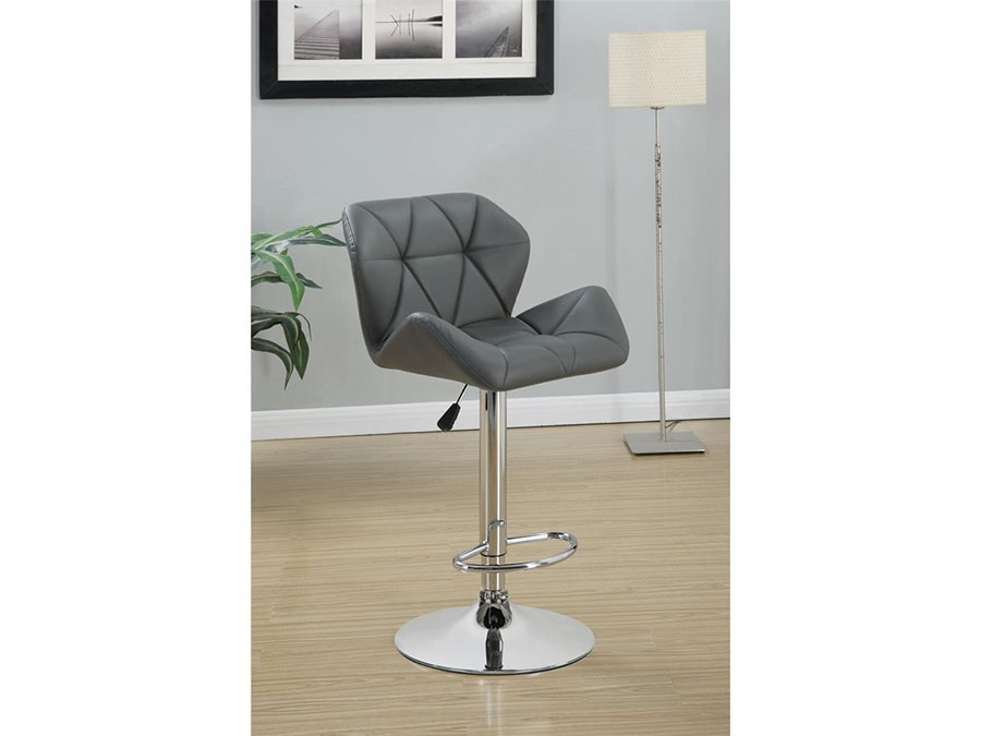 2pcs Gray Adjustable Stool W Chrome Base Shop For