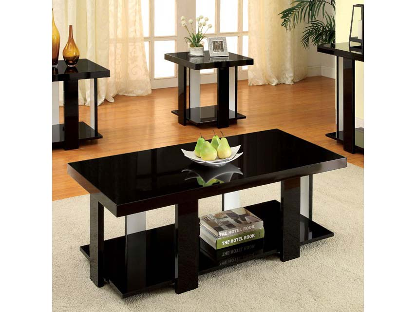Lakoti I Black 3Pcs Table Set