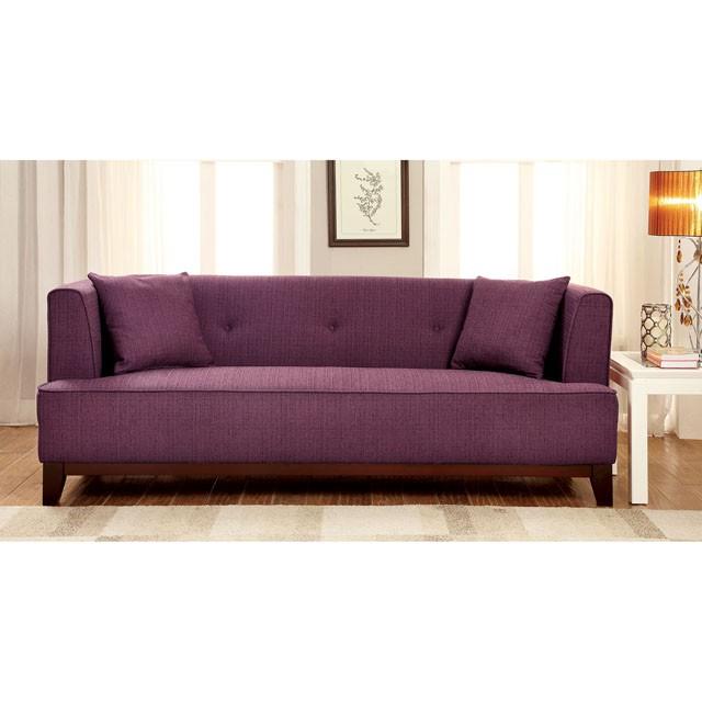 Sofia Purple Fabric Sofa