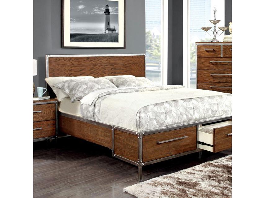 Torres Dark Oak Cal.King Storage Platform Bed  sc 1 st  Muuduu Furniture & Torres Dark Oak Cal.King Storage Platform Bed - Shop for Affordable ...