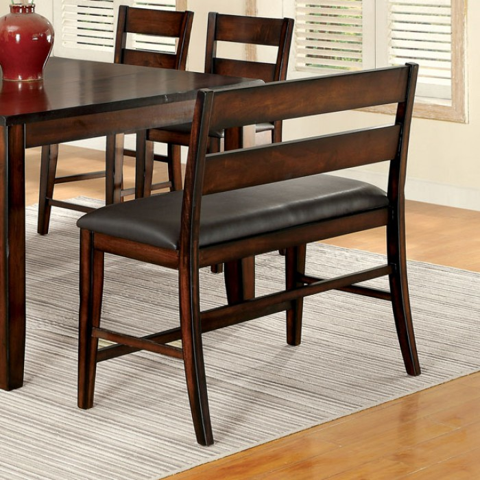 Dickinson II Dark Cherry Wood Counter Height Table Set