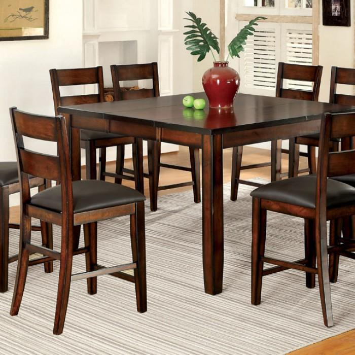 Beau Dickinson II Dark Cherry Wood Counter Height Table Set