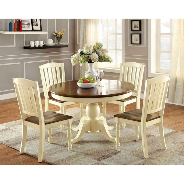 Harrisburg 2Pcs Cottage Style Two Tone Wood Dining Chair