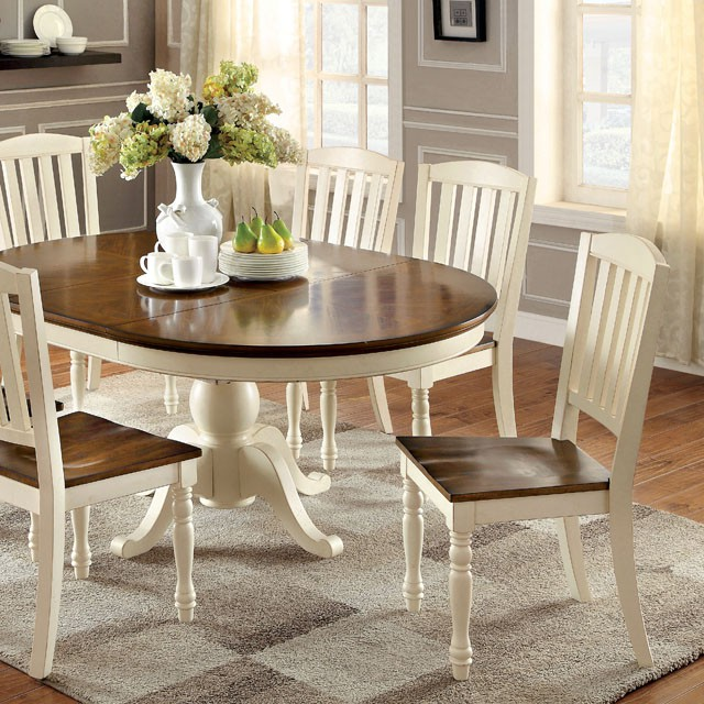 Harrisburg Cottage Style Two Tone Wood Oval Dining Set