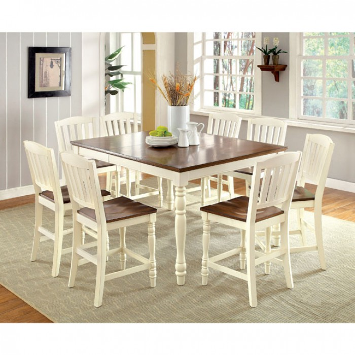 Harrisburg Cottage Two Tone Counter Height Table Set Shop For - Counter height table for two