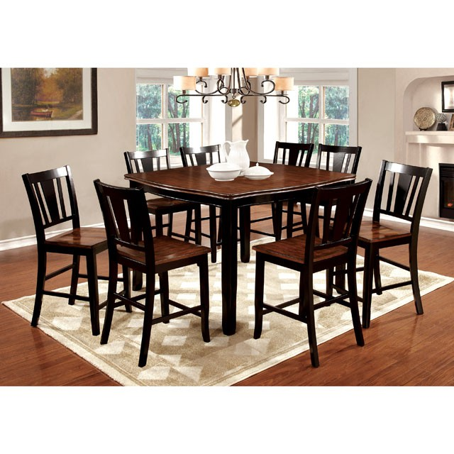 Marvelous Dover Black Cherry Wood Counter Height Table Set Caraccident5 Cool Chair Designs And Ideas Caraccident5Info