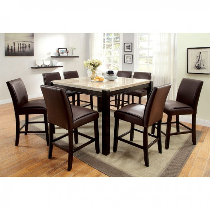 Gladstone Dark Walnut Counter Height Dining Table Set