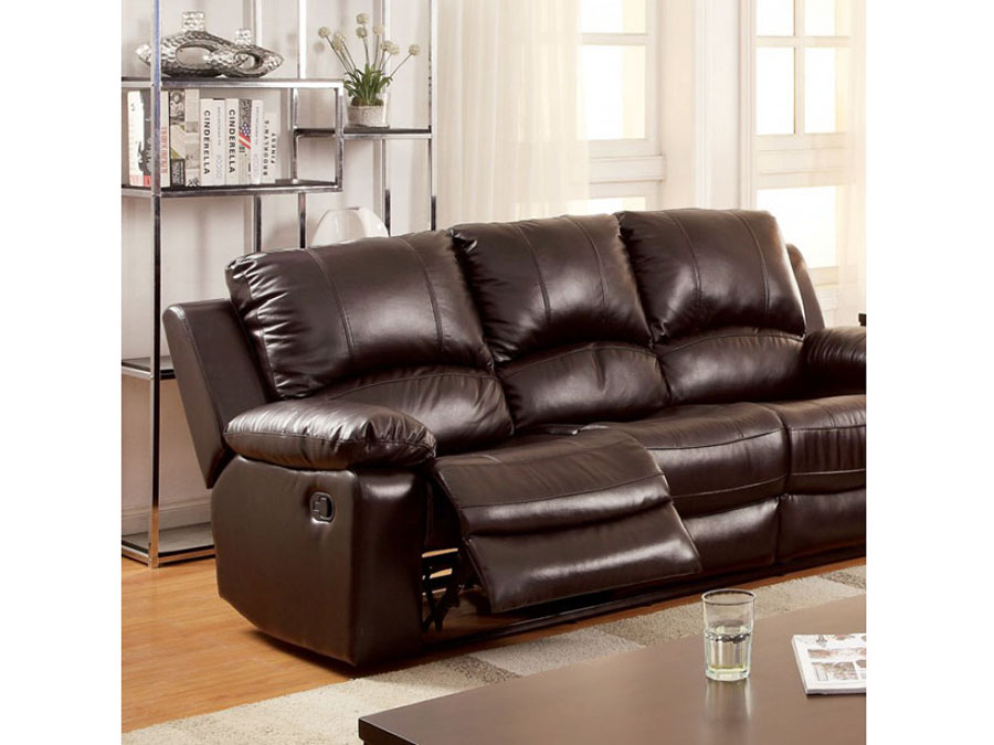 Davenport Rustic Dark Brown Motion Sofa