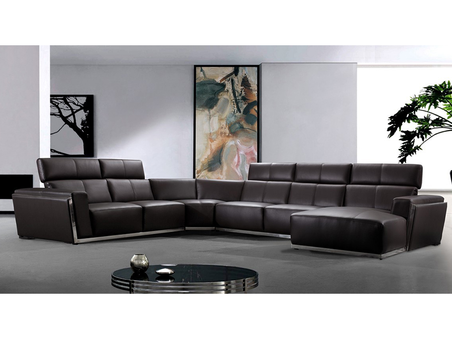 Dark Brown Leather Sectional Sofa Shop For Affordable Home