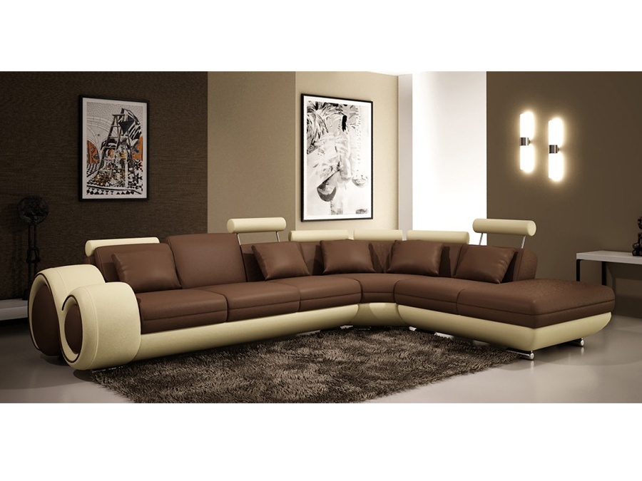 Brown Leather Sectional Sofa - Shop for Affordable Home Furniture ...