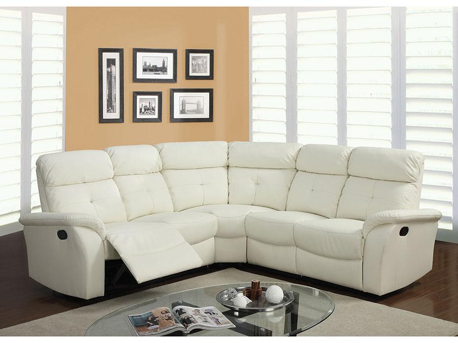 Surprising Lawrence Light Beige Bonded Leather Sectional Sofa Set Uwap Interior Chair Design Uwaporg
