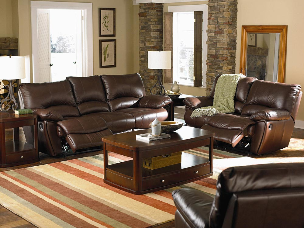Power Reclining Sofa Set In Brown Shop For Affordable Home