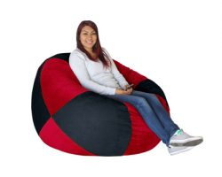 Bean Bag Black and Scarlet Red -