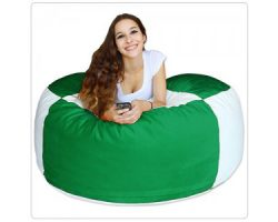Bean Bag Green and White