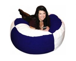 Bean Bag Navy Blue and White