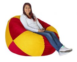 Bean Bag Red and Gold