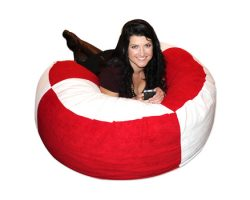 Bean Bag Red and White