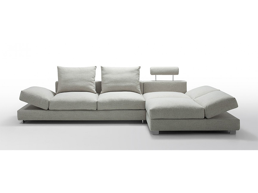 Superieur Sectional Sofa With Down Feather Cushioning