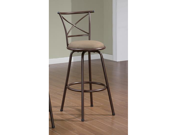 2pcs 29 Inch X Back Brown Metal Bar Stool Shop For Affordable Home