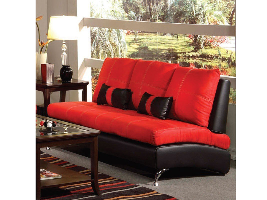 Jolie Red And Black Sofa W 2 Pillows Shop For Affordable Home Furniture Decor Outdoors And More