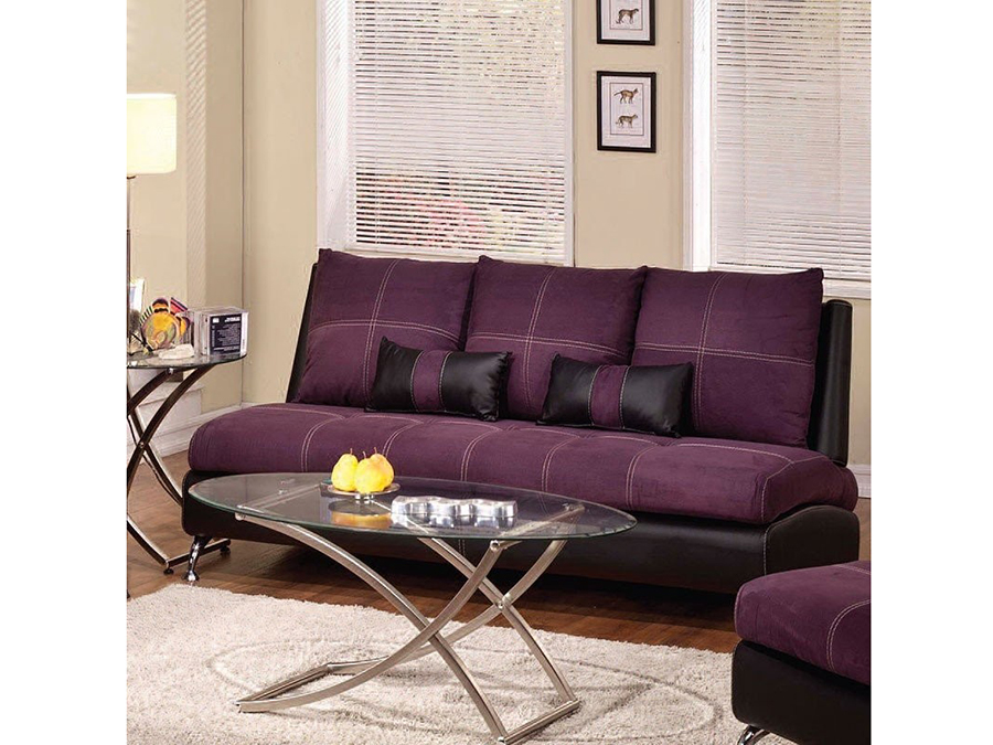 Jolie Purple And Black Sofa W 2 Pillows Shop For Affordable Home Furniture Decor Outdoors