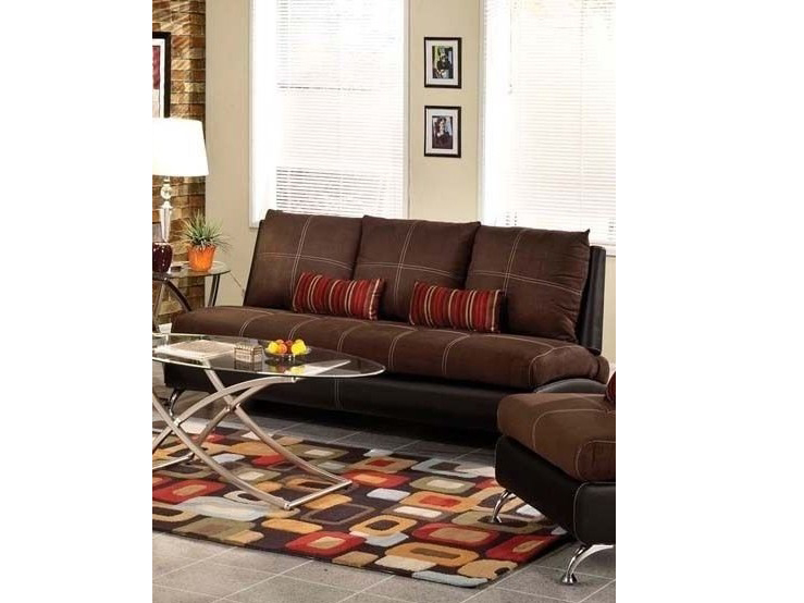 Jolie Chocolate And Black Sofa W 2 Pillows Shop For Affordable Home Furniture Decor Outdoors