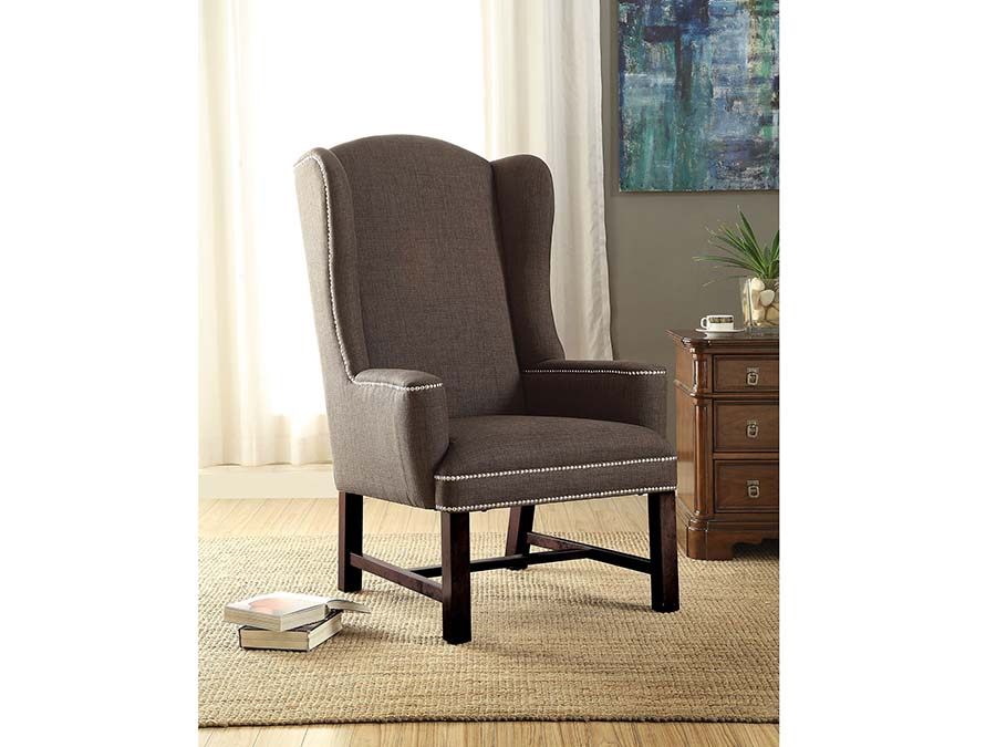 Swell Wells Gray Fabric Accent Chair Andrewgaddart Wooden Chair Designs For Living Room Andrewgaddartcom