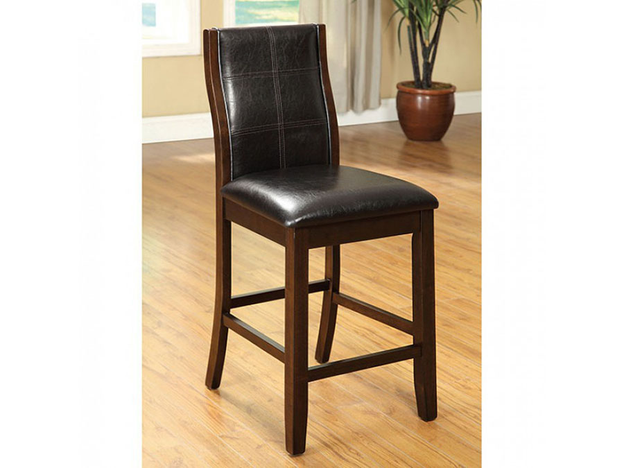 Townsend II 2Pcs Transitional Brown Cherry Counter Height Chairs