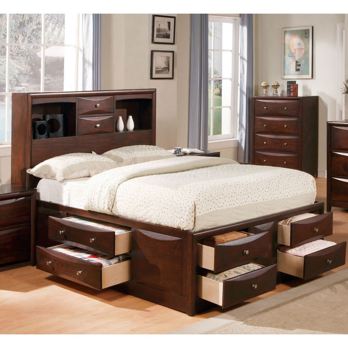 Manhattan Espresso Full Bed W/Storage. By Acme Furniture