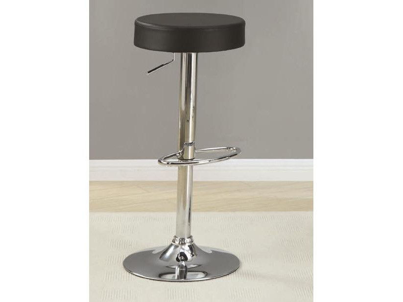 Adjustable Hight Black Seat Chrome Base Bar Stool Shop