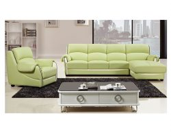 Modern Green Faux Leather Sectional Sofa  sc 1 st  Muuduu Furniture : sectional sofa sale free shipping - Sectionals, Sofas & Couches