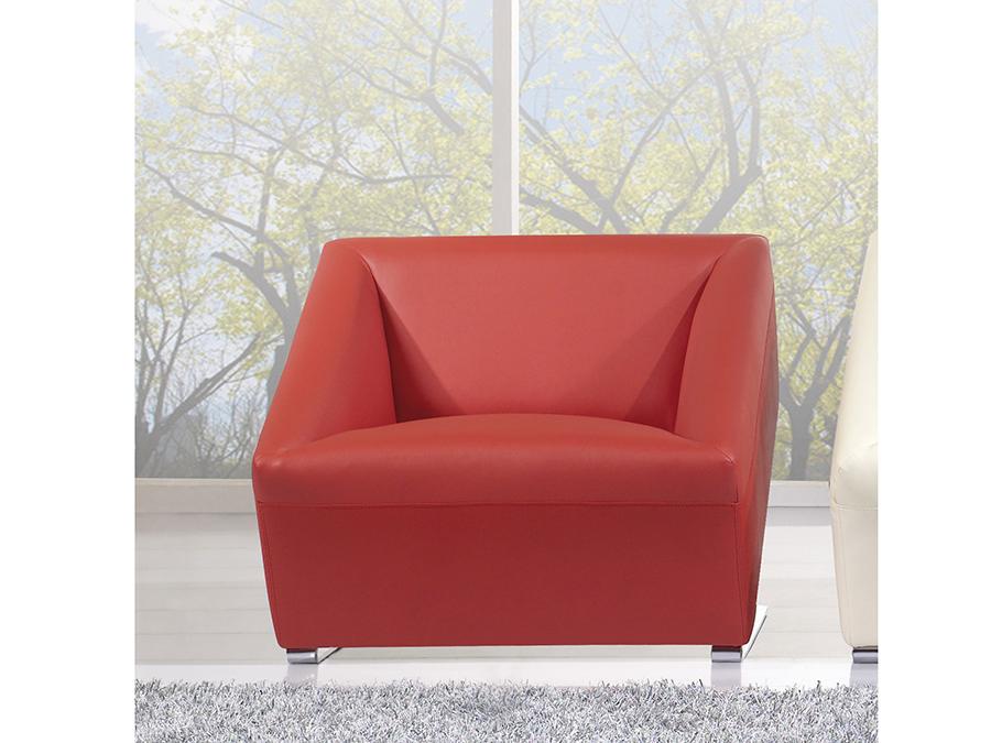 Fabulous Modern Red Faux Leather Accent Chair Creativecarmelina Interior Chair Design Creativecarmelinacom