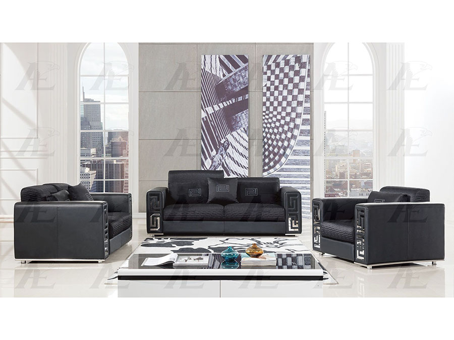 Swell Black Faux Leather Sofa Set Pdpeps Interior Chair Design Pdpepsorg